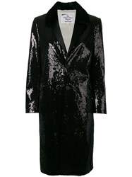 Dsquared2 Sequin Embellished Coat Black