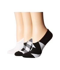 Converse 3 Pack Buffalo Check Made For Chuck Black White Assorted Low Cut Socks Shoes