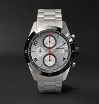 Montblanc Timewalker Chronograph Automatic 43Mm Stainless Steel And Ceramic Watch Silver