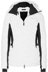 Kjus Duana Two Tone Hooded Quilted Down Ski Jacket White