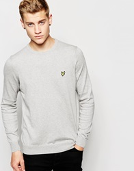 Lyle And Scott Vintage Jumper With Crew Greyma
