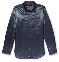 Sies Marjan Sander Washed Satin Shirt Blue
