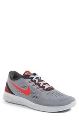 Nike Men's 'Free Rn' Running Shoe Cool Grey Red Black