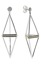 Lagos 'Ksl' Pyramid Drop Earrings Silver Gold