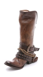 Freebird Knox Harness Tall Boots Brown