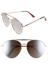 Quay Australia Women's Lickety Split 62Mm Aviator Sunglasses Gold Brown Lens Gold Brown Lens