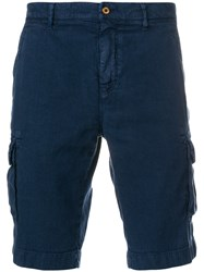 Loro Piana Casual Cargo Shorts Blue