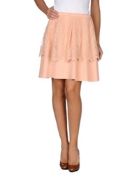 Siste's Siste' S Knee Length Skirts Apricot
