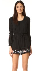 Rahicali Dahlia Lace Up Romper Black