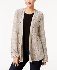 Styleandco. Style Co. Petite Open Knit Cardigan Only At Macy's Natural Heather Combo