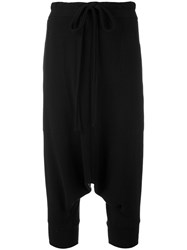 Y's Low Crotch Trousers Women Cotton 2 Black