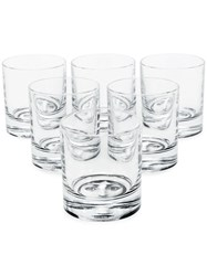 Fornasetti Set Of Six Tumblers Black