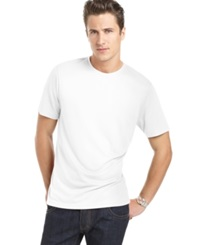 Perry Ellis Shirt Core Luxe Crew Neck T Shirt Bright White