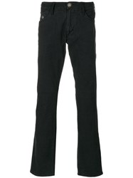 Armani Jeans Button Detail Bootcut Men Cotton Spandex Elastane Viscose 32 Black