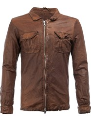 Giorgio Brato Zipped Shirt Jacket Brown