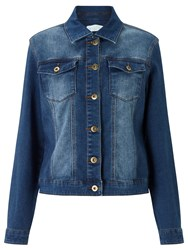 John Lewis Collection Weekend By Stretch Denim Jacket Mid Blue