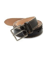 Paul Smith Signature Striped Leather Belt Black