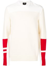 Calvin Klein 205W39nyc Colour Block Jumper Nude And Neutrals