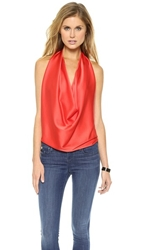 Ramy Brook Harriet Halter Top Cherry