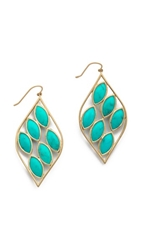 Jamie Wolf Acorn Earrings With Turquoise Stones Gold