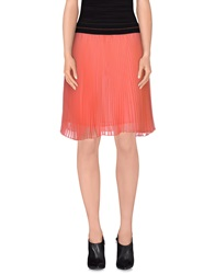Marco Bologna Knee Length Skirts Coral