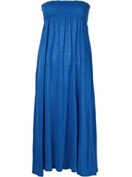 Majestic Filatures 2 In 1 Maxi Skirt Tube Dress Blue