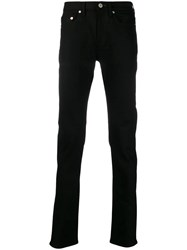 Paul Smith Ps Straight Leg Mid Rise Jeans Black