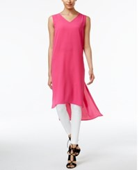 Vince Camuto High Low Tunic Festive Pink