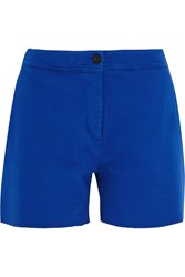 Acne Studios Gioia Cotton Blend Jersey Shorts Bright Blue