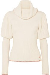 J.W.Anderson Jw Anderson Ribbed Knit Turtleneck Sweater Cream