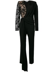 Givenchy Lace Draped Detailed Jumpsuit Black
