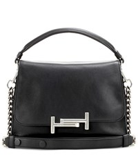 Tod's Double T Small Leather Shoulder Bag Black