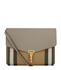 Burberry Shoes And Accessories Small House Check Cross Body Bag Female Grey