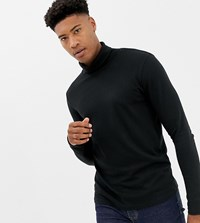 Selected Homme Roll Neck Long Sleeve Top Black