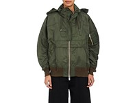 Sacai Women's Insulated Bomber Jacket Green