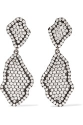 Kimberly Mcdonald 18 Karat Blackened White Gold Diamond Earrings