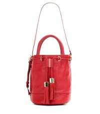 See By Chloe Vicki Large Leather Bucket Bag Red