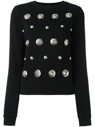 Versus Lion Studded Jumper Black