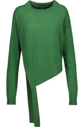 Tibi Tie Front Cashmere Sweater Green