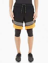 Adidas By Kolor Black Lightweight Layered Woven Shorts