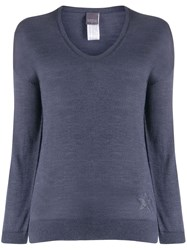 Lorena Antoniazzi Fine Knit V Neck Jumper 60