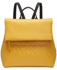 Dkny Tilly Logo Backpack Yellow Black