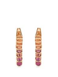 Marie Mas Reversible Multi Stone And Pink Gold Earrings