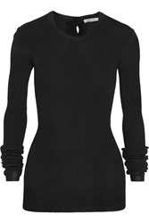 Protagonist Ribbed Knit Sweater Black