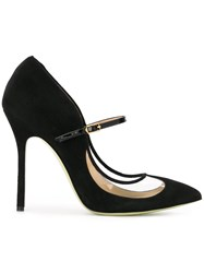 Giannico Pointed Toe Pumps Black
