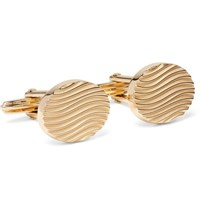 Lanvin Gold Plated Cufflinks Gold