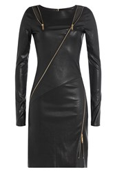 Jitrois Leather Sheath With Zippers And Cutouts Black