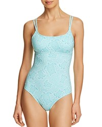 Vilebrequin Turtles One Piece Swimsuit Lagoon