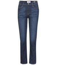 Frame Le High Straight Jeans Blue