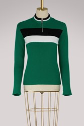 Red Valentino Knitted Sporty Sweater Bandiera